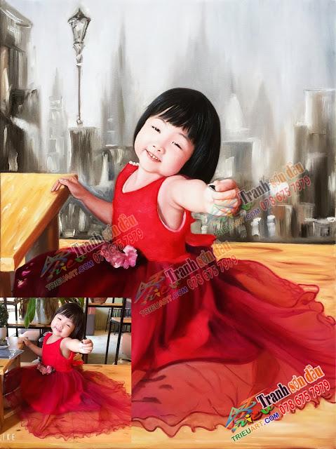 chân dung bé gái