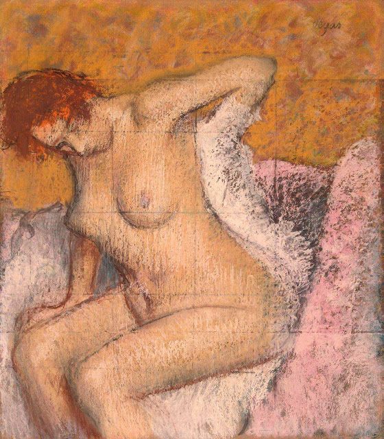 Эдгар Дега - После ванны (1895)