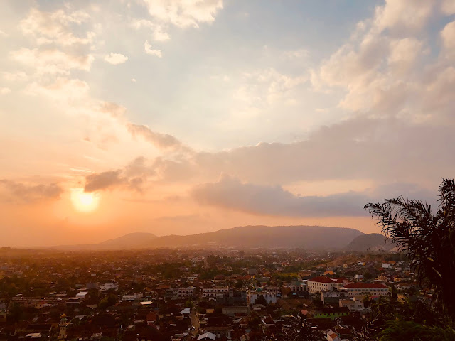 Sunset captured from Bukit Randu Hotel, Lampung