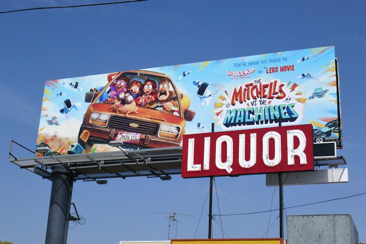 Mitchells vs the Machines Netflix billboard