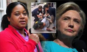 Eric Garner's daughter speaks against Presidential Candidate Hillary Clinton and her campaign over emails about her Late father