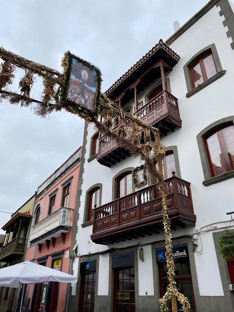 Main street in Teror, Gran Canaria, Spain