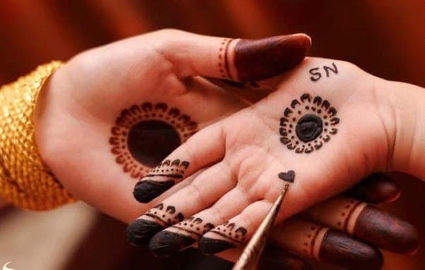 Contoh Gambar Henna Di Telapak Tangan Simple