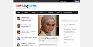 Easy News - Magazine Responsive SEO Blogger Template