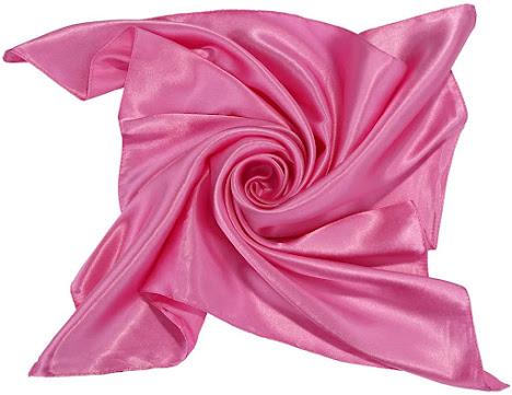 Plain Shiny Hot Pink Satin Scarf
