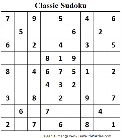 Classic Sudoku (Fun With Sudoku #83)-Fun With Puzzles