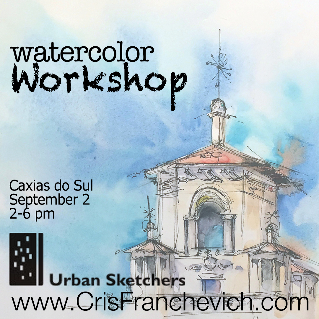 Watercolor Workshop in Caxias do Sul, Brazil
