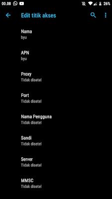 Settingan APN by.U Terbaru dan Tercepat