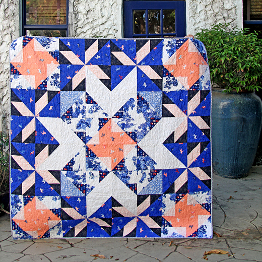 Lapis Lazuli Quilt designed by Katarina Roccella of Live art gallery fabrics, featuring Inblue Collection