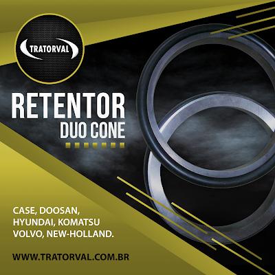 Retentor Duo Dual Cone Escavadeiras
