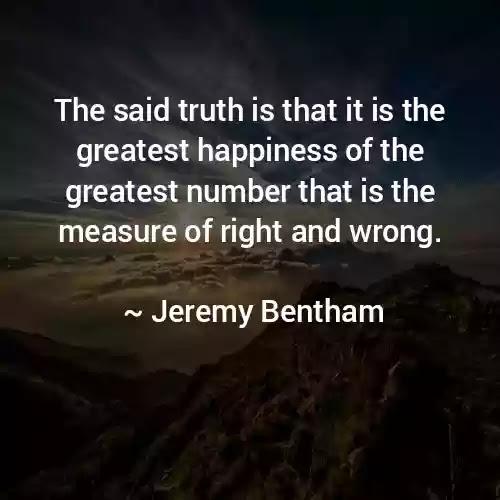 jeremy bentham utilitarianism quotes