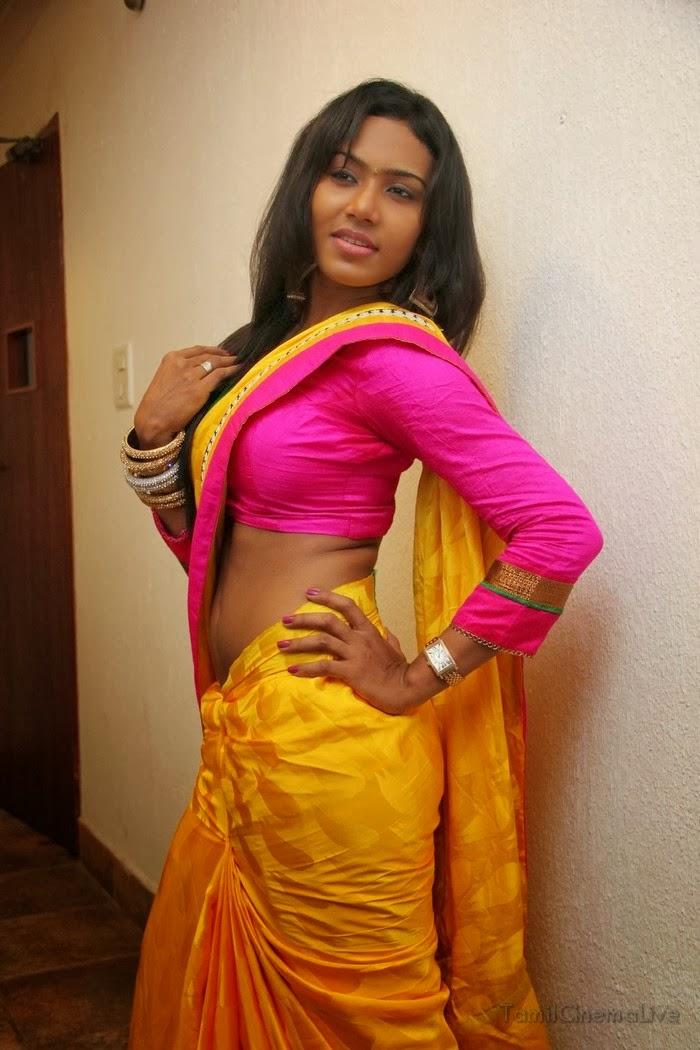tamil sexy actress risha hot stills exposing saree pallu