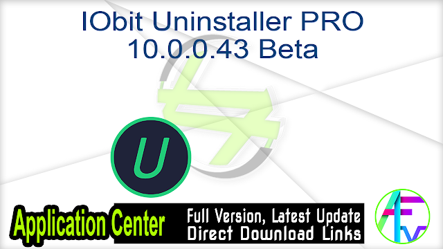 IObit Uninstaller PRO 10.0.0.43 Beta