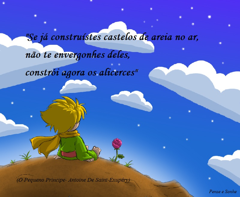 Frases Do Pequeno Principe: Pense E Sonhe. Viva!: Frases De O Pequeno Principe