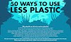 50 Ways to Use Less Plastic #inforgaphic