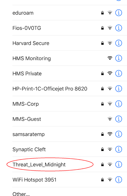 Name of Network: Threat Level Midnight