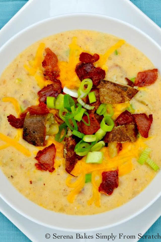 Fully Loaded Baked Potato Soup from serenabakessimplyfromscratch.com