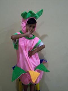 Kostum bunga,kostum tulip