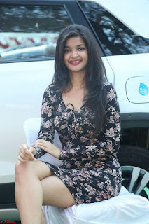 Kritika Telugu cinema Model in Short Flower Print Dress 043.JPG
