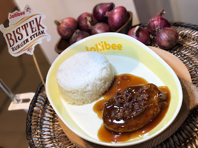 The new Jollibee Bistek Burger Steak is a flavorful, savory-sour hit!