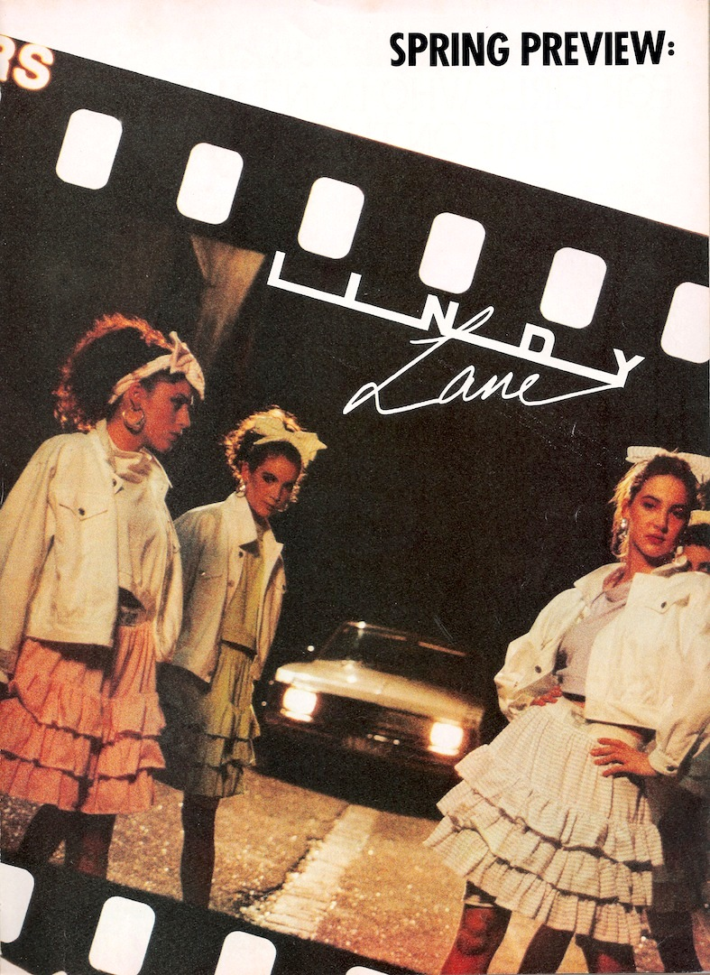 5ecbd173f258 Glossy Sheen  Lindy Lane Advertisement - Dolly July 1987