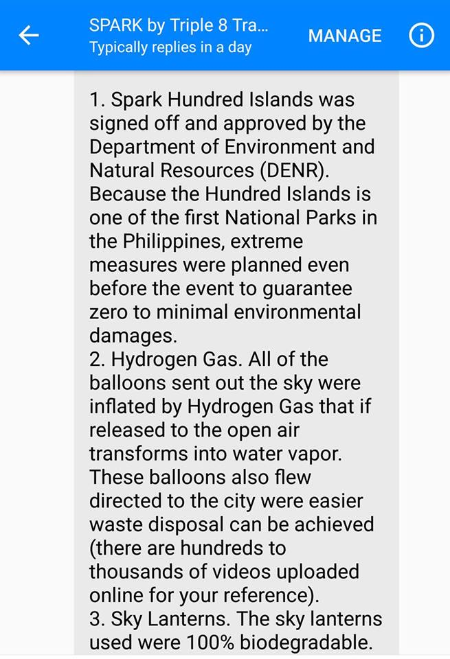 Hundred Islands festival official statement