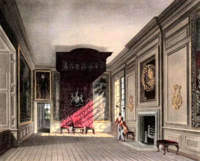 King's Presence Chamber, St James's Palace  from The History of he Royal Residences by WH Pyne (1819)