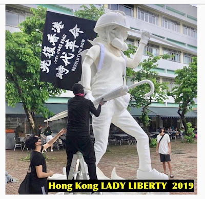 Statue of the Hong Kong - LADY LIBERTY, 2019