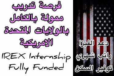 فرصة تدريب في الولايات المتحدة الامريكية ممولة بالكامل| IREX Internship 2021