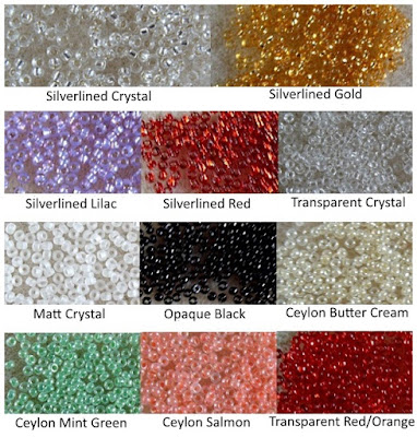 size 15/0 seed beads