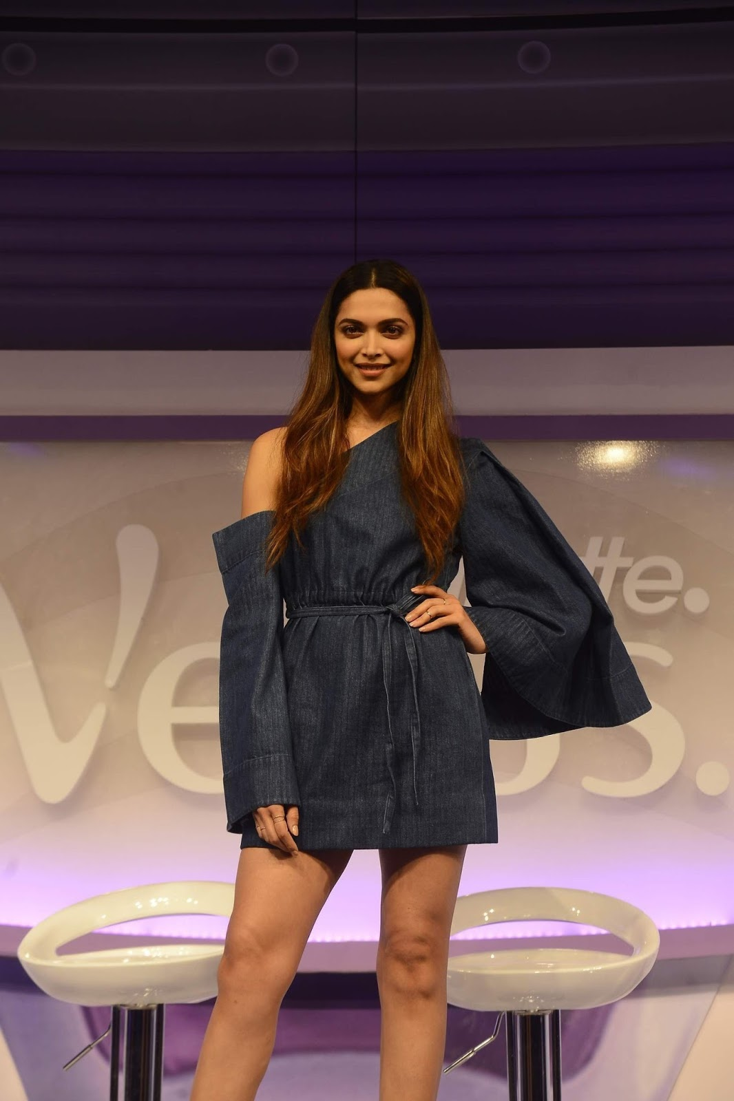 Deepika Padukone Displays Her Long Sexy Legs At The launch of Gillette Venus Breeze, in Mumbai