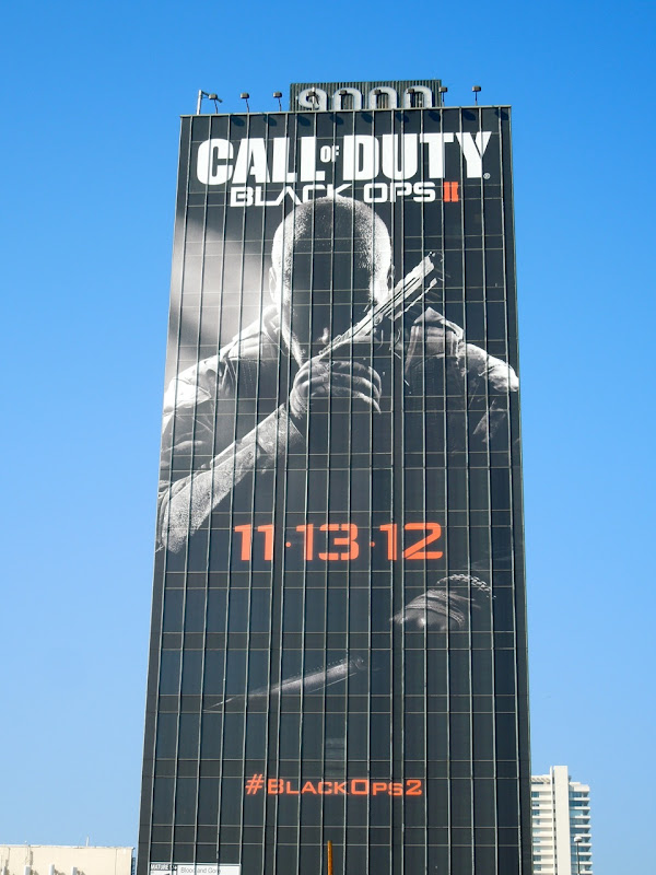 Call of Duty Black Ops II video game billboard