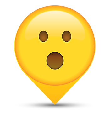 Open Mouth Smiley Map Marker