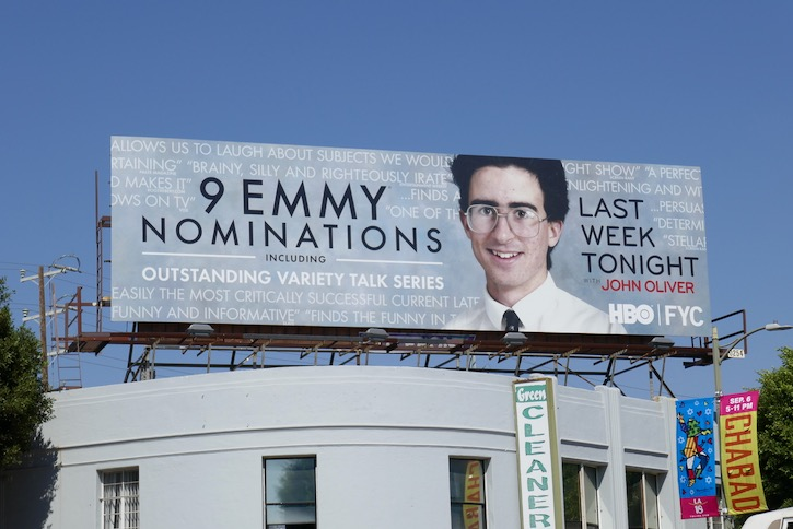 Last Week Tonight John Oliver 2020 Emmy billboard