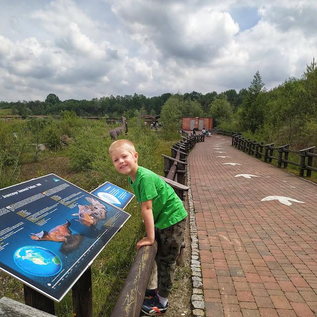ścieżka dydaktyczna Krasiejów Park, dinozaury, atrakcje dla dzieci