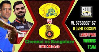 19th Match RCB vs CSK IPL 2021 Today Match Prediction 100% Sure Winner