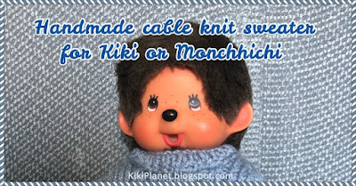 kiki monchhichi tricot knitting handmade fait main pull doll poupée vêtement