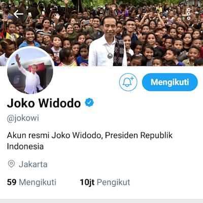 Klarifikasi mengenai Cuitan Akun Twitter Presiden Jokowi - Info Presiden Jokowi Dan Pemerintah