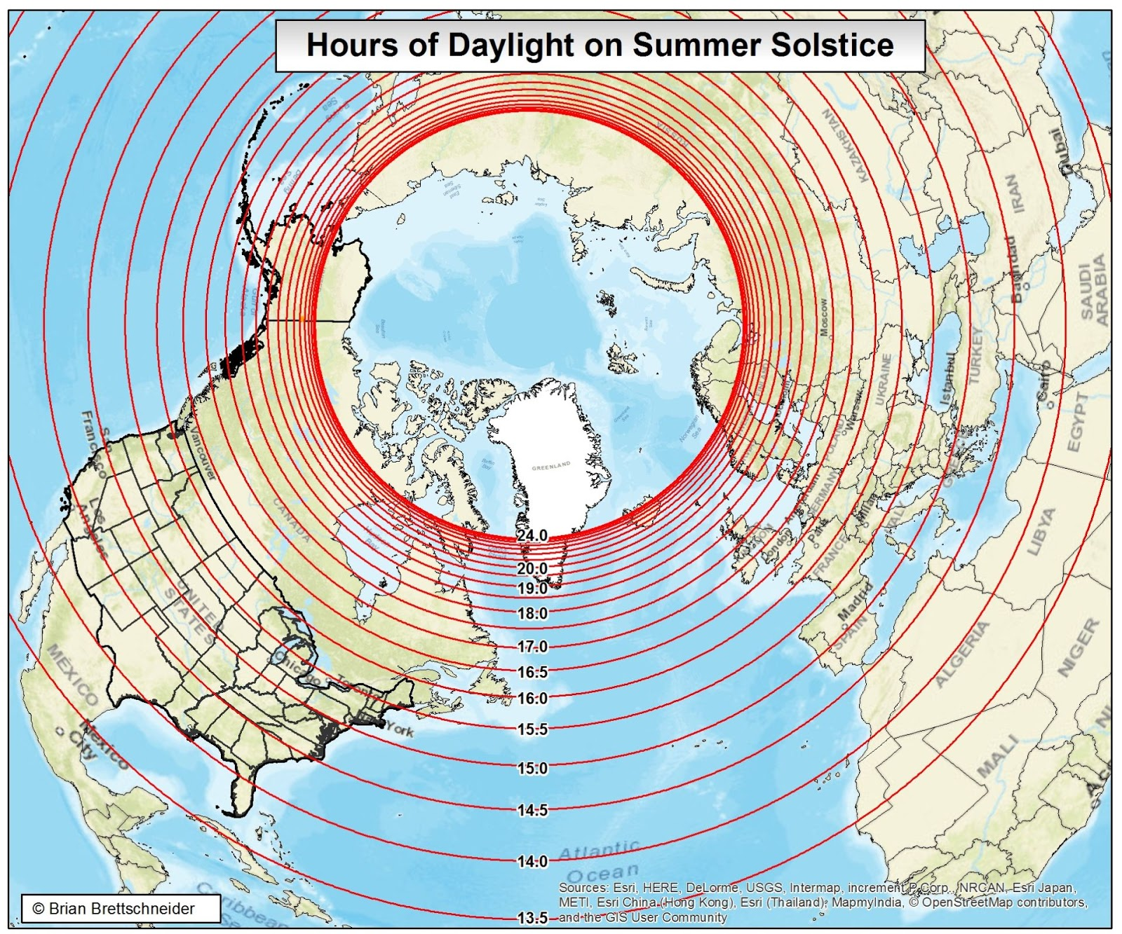 24 Hour Darkness Alaska Map