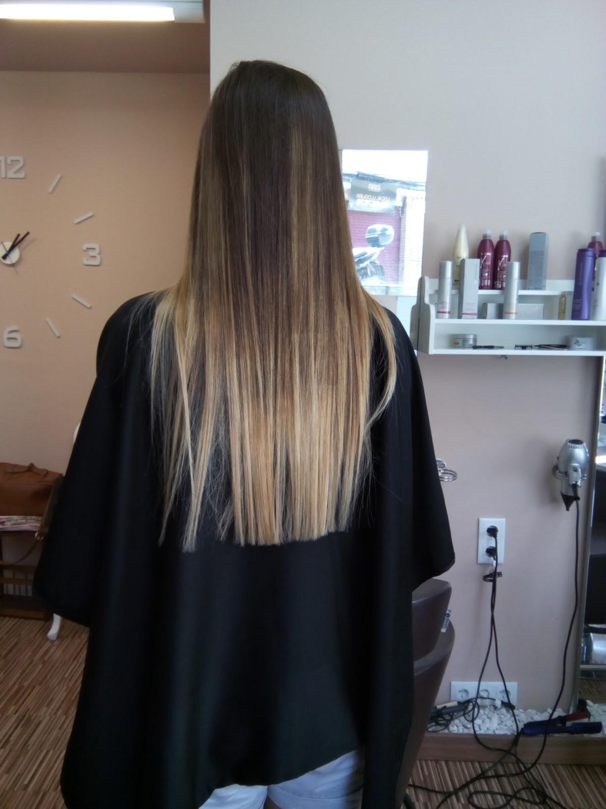 Y por último, os mostramos unas mechas balayage. El cabello natural de esta chica es un castaño medio bastante uniforme.