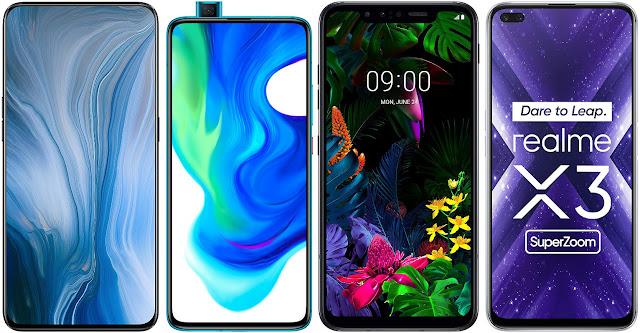 Oppo Reno 10x Zoom vs Xiaomi Poco F2 Pro vs LG G8 Smart Green Thinq vs Realme X3 Super Zoom