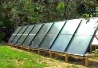 Κατασκευή ηλιακού συστήματος θέρμανσης νερού