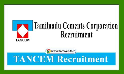 TANCEM Recruitment 2021 - Apply for Latest Tamilnadu Cement Job Vacancies