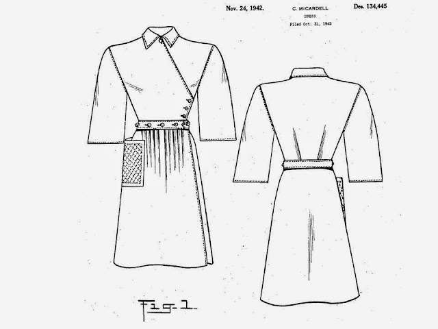 Pintucks: Claire McCardell: 1942 Popover dress, the design