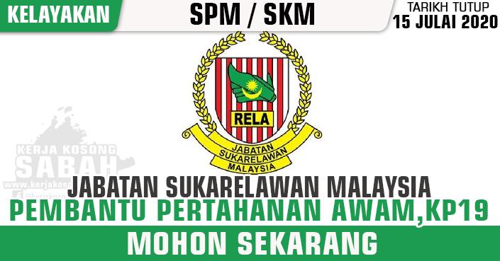 Jawatan Kosong Kerajaan 2020 Pembantu Pertahanan Awam Gred Kp19 Rela Kerja Kosong Sabah