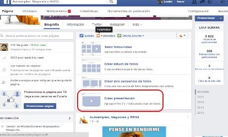 vídeo presentaciones en facebook 2