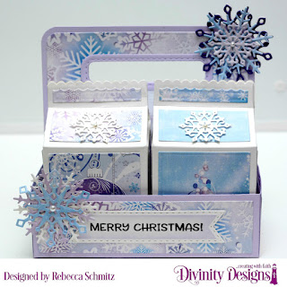 Stamp Set:  Christmas Birdhouses, Paper Collection: Christmas 2019, Custom Dies: Snow Crystals, Milk Carton Holder, Milk Carton with Layers, Double Stitched Pennant Flags