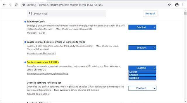 Cách bật hiển thị URL đầy đủ trong Google Chrome