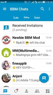 Download BBM MOD KIMOCHI SIMPLE BLUE V3 (BBM V3.0.1.25) Newest Update
