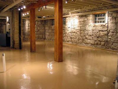 basement concrete wall paint ideas